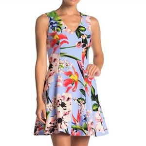 Vince Camuto Tropica Fit &  Flare Dress 16w